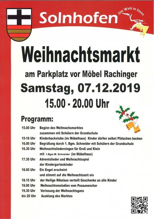 29 Solnhofener Weihnachtsmarkt 1 12 2018 Gemeinde Solnhofen
